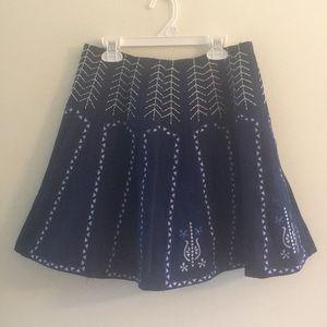 Francesca's Embroidered Skirt